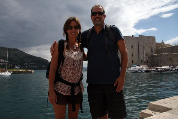 Couple from small ship cruise in Dubrovnik.