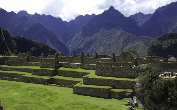 Landscape at Machu Picchu.