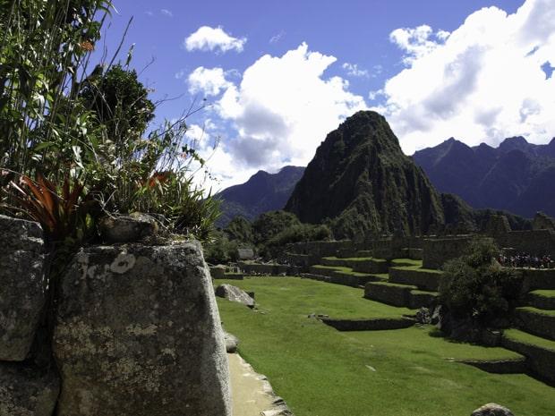 Ruins at Machu Picchu.