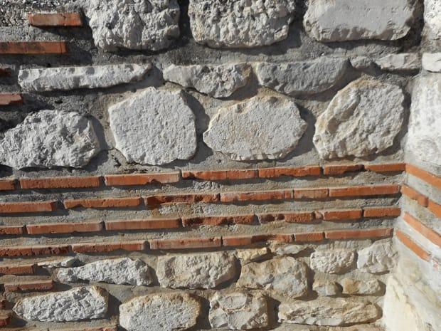 Stone wall in Dubrovnik, Croatia.