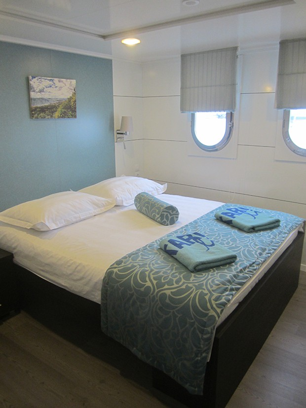 Cabin aboard the Admiral small ship cruise in Croatia.