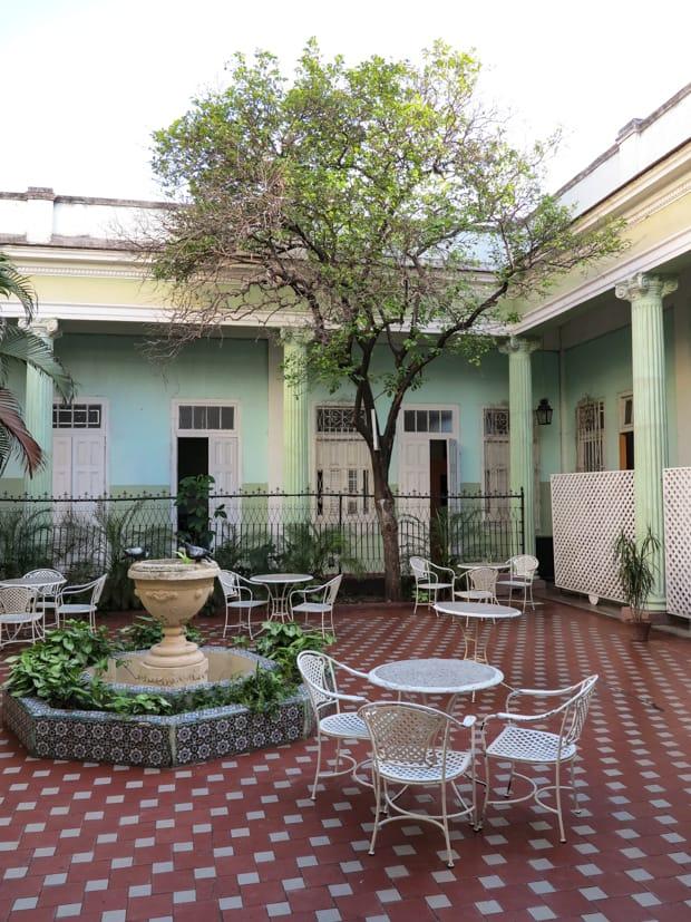 A courtyard in cienfuegos.