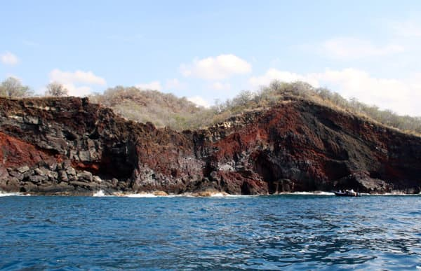 Hawaiian cruise Pele rock formation looking like a woman laying on her side
