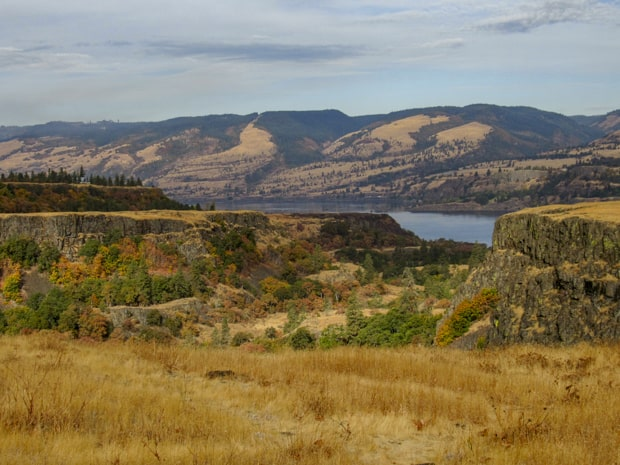 View from a hiking excursion in Rowena Plateau off a pacific northwest river cruise.
