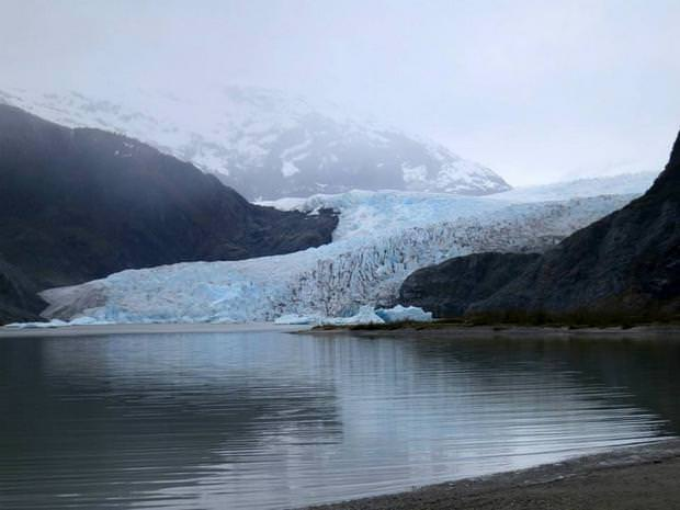 Mendenhall Glacier see on a tour from a small ship cruise in Juneau, Alaska.