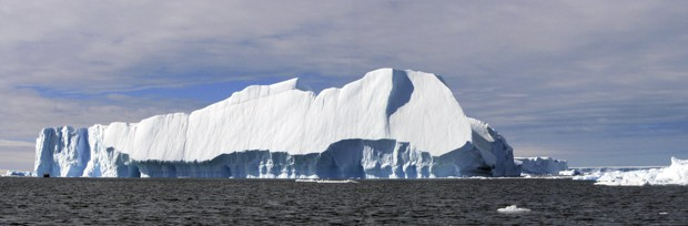 large iceberg seen on Antarctica solar eclipse cruise
