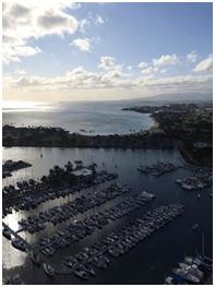 Overlook of a harbor