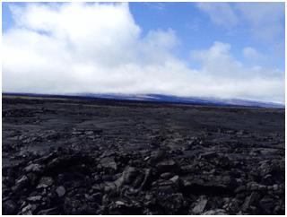 Lava filled landscape