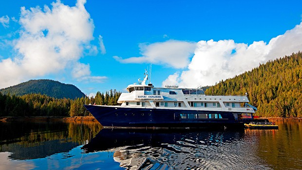 Small expedition ship in Alaska aboard Safari Explorer.