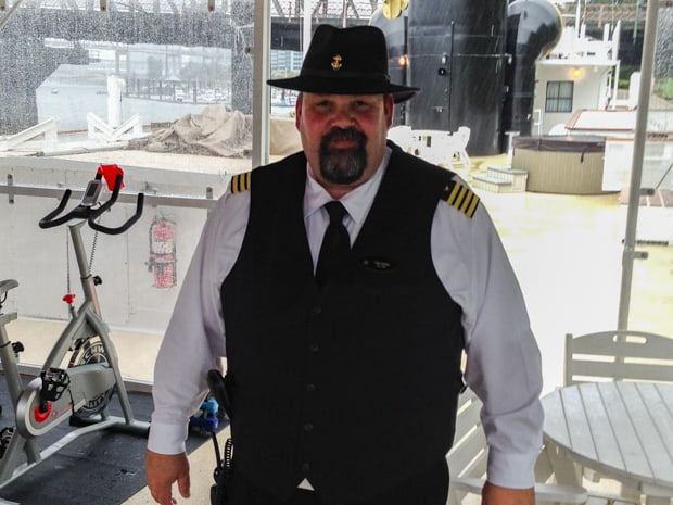 Captain Tim Voss aboard S.S. Legacy small ship cruise in Alaska.