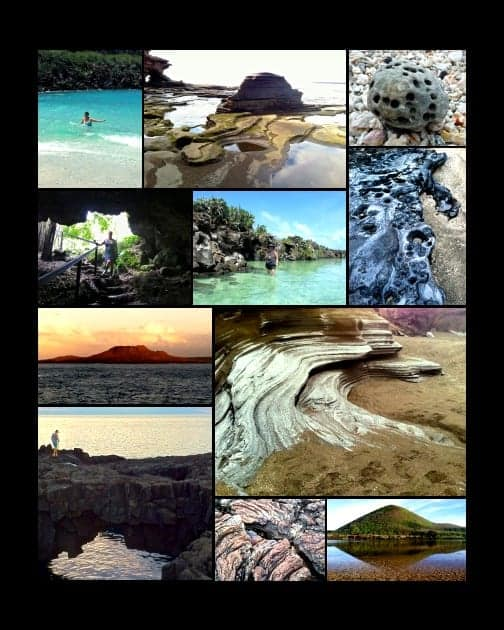 Collage of volcanic remnants seen on their Galapagos small ship cruise.