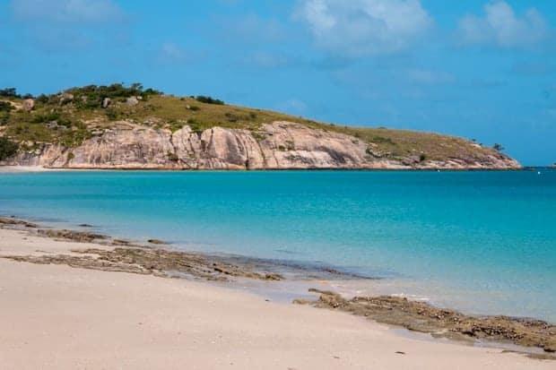 A pristine Australian shoreline on a sunny day