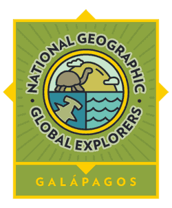 Logo for the National Geographic Global Explorers in the Galapagos.