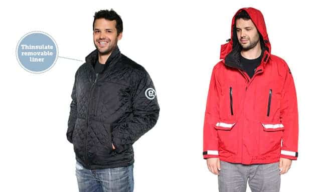 Parka with removable liner for polar expeditions.