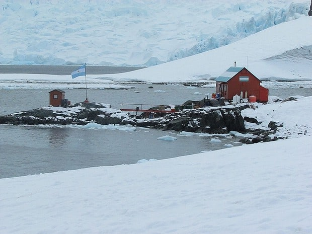 Research station in Antarctica.