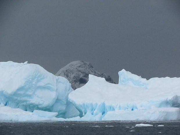 Iceberg in Antarctica seen from a small ship cruise.
