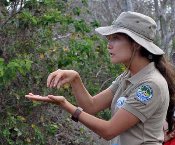 Galapagos guide interpreting.
