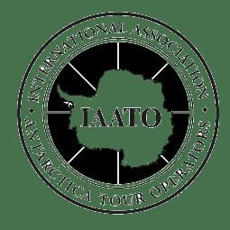 International Association of Antarctica Tour Operators logo with Antarctica outline.