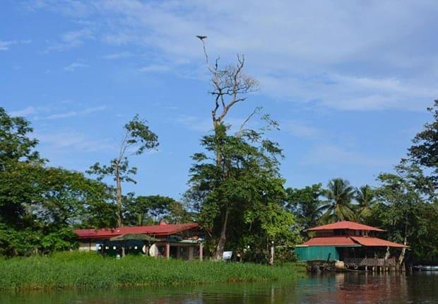Arriving by boat to the Laguna de Tortuguero School in Costa Rica.