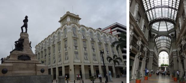 The Palacio Municipal and Palacio del Gobierno in Guayaquil, Ecuador.
