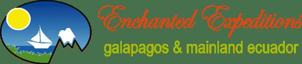 Enchanted Expeditions - Galapagos & Mainland Ecuador logo with sailboat sailing in the sunshine.