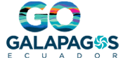 Go Galapagos colorful logo with GO in many colors.
