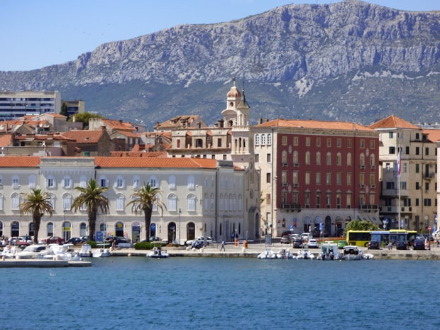 The Croatian city of Split from the view of the water.